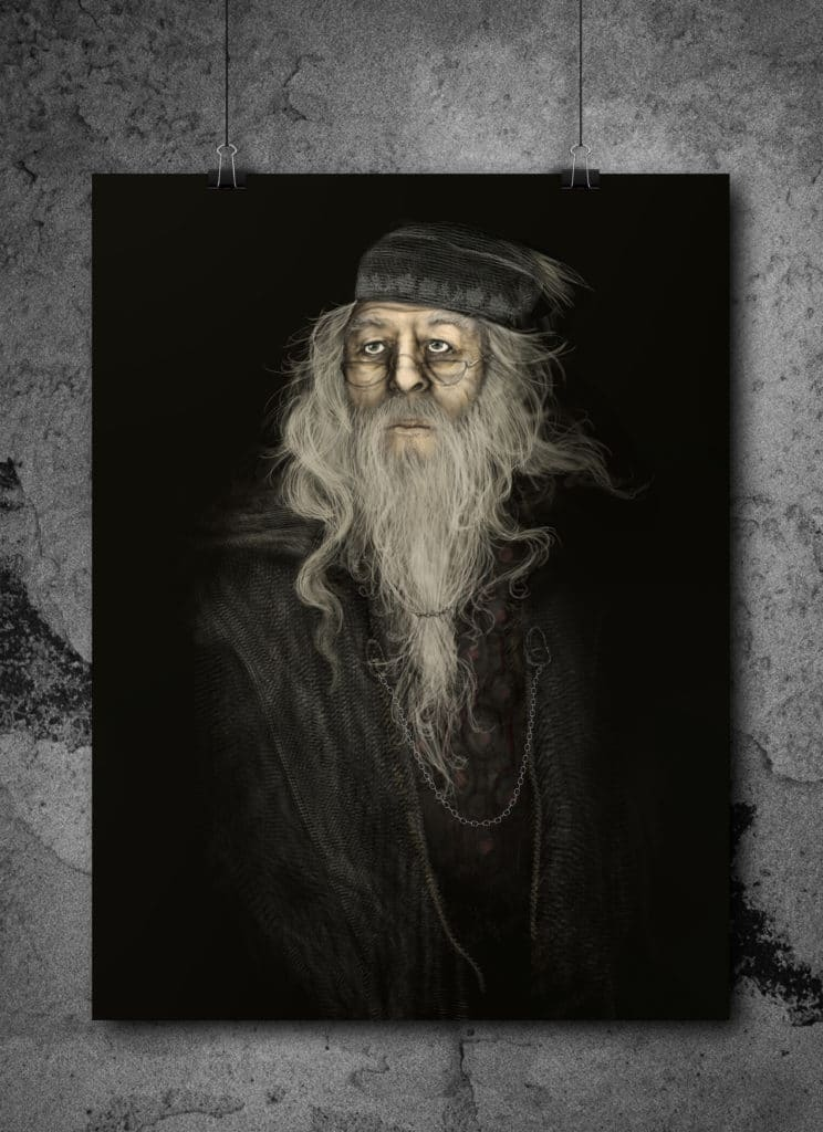 Dumbledore painting by Casey Andrews