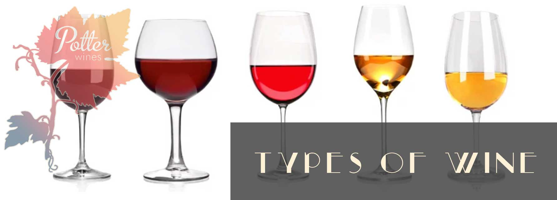 What are the different kinds of wine?