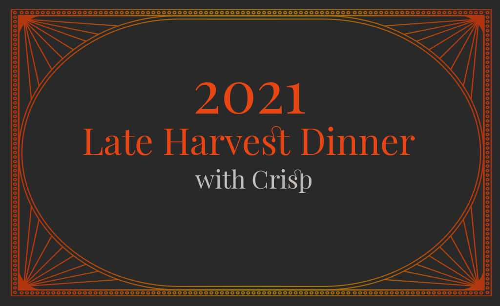 Late Harvest Dinner with Potter Wines